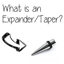 What does expander, taper or strecher mean?