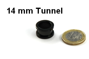 14mm Tunnel compared with an Euro Coin