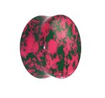 Stone Ear Plug - Marble - Pink-Green - 12 mm