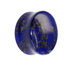 Stone Ear Plug - Marble - Blue-Gold - 4 mm