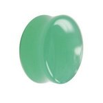 Glass Ear Plug - Light Green - 6 mm