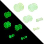 Glow in the dark - Ear Plug - Glass - 8 mm