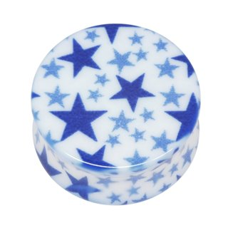 Neo Pop Ear Plug - Blue Stars