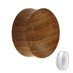 Wood Ear Plug - Teakwood - 10 mm
