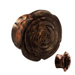 Wood Ear Plug - Rose - 18 mm