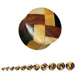 Wood Ear Plug - Parquet - 10 mm