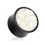 Horn Ear Plug - Bloom - White - 8 mm