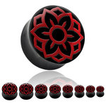 Horn Ear Plug - Lotus - Red - 10 mm