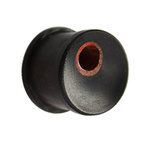 Wood Ear Plug - Ebony Wood - Hole - 5 mm