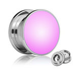 LED Ear Plug - Pink - 8 mm