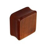 Wood Ear Plug - Square - Redwood - 10 mm