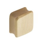 Wood Ear Plug - Square - Crocodile Wood - 10 mm