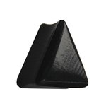 Wood Ear Plug - Triangle - Ebony Wood 10 mm