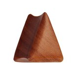 Wood Ear Plug - Triangle - Saba Wood - 8 mm