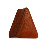 Wood Ear Plug - Triangle - Redwood - 10 mm