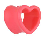 Shape Flesh Tunnel - Acrylic - Heart - Pink - 12 mm