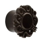 Wood Flesh Tunnel - Black - Ornament - 10 mm