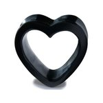 Horn Flesh Tunnel - Heart - 18 mm