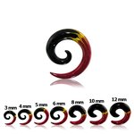 Spiral Taper - Flames - 3 mm