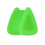 Silicone Triangle Flesh Tunnel - Green - 4 mm