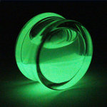 Glow in the dark - Fluid Ear Plug - 10 mm