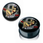 Pin Up Ear Plug - Cherry Bomb