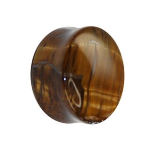 Stone Ear Plug - Tiger Eye