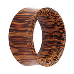 Wood Flesh Tunnel - Palm Wood - Light - 28 mm