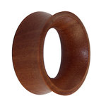 Wood Flesh Tunnel - Saba Wood - 6 mm