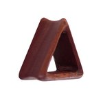 Wood Flesh Tunnel - Triangle - Saba Wood - 10 mm