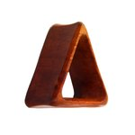 Wood Flesh Tunnel - Triangle - Redwood - 14 mm