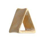 Wood Flesh Tunnel - Triangle - Crocodile Wood - 10 mm