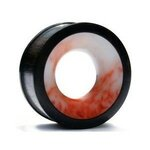 Wood Flesh Tunnel - Brown - Marble - 10 mm