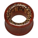 Wood Flesh Tunnel - Brown-Coco Wood - 14 mm