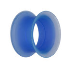 Flesh Tunnel - Silikon - Blau - dünner Rand