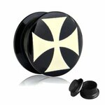 Picture Ear Plug - Screw - Cross