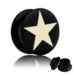 Picture Ear Plug - Screw - Star White