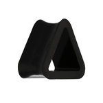 Silicone Triangle Flesh Tunnel - Black