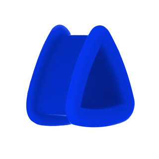 Silicone Triangle Flesh Tunnel - Blue