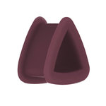 Silicone Triangle Flesh Tunnel - Brown