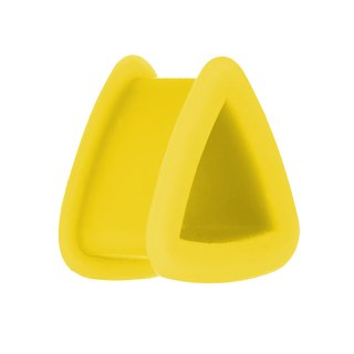 Silicone Triangle Flesh Tunnel - Yellow