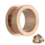 Flesh Tunnel - Steel - Rose Gold - 6 mm