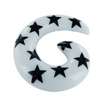 Spiral Taper - Stars - White-Black