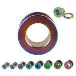 Flesh Tunnel - Steel - Rainbow - 14 mm