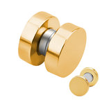Magnet Fake Plug - Steel - Gold - [1.] - 6 mm