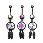 Bananabell Piercing - Dream Catcher - Black - [1.] - crystal