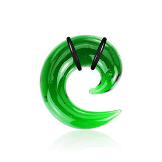 Spiral Taper - Glass - Green