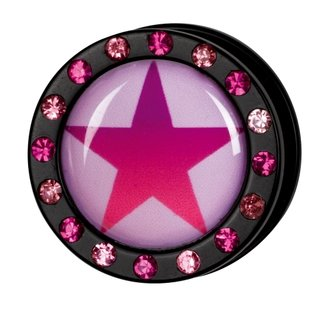 Crystal Picture Plug - Screw - Star