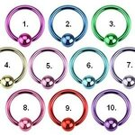 Ball Closure Ring - Colorful - [20.] - 1.6 x 10 x 4 mm -...