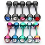 Barbell Piercing - Colorful - Crystal - [02.] - Barbell:...